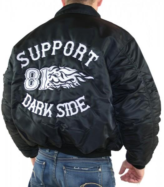 828 support 81 dark side hells angels flieger jacke ebay. Black Bedroom Furniture Sets. Home Design Ideas